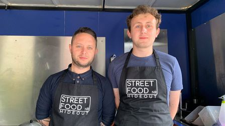 Brothers-in-lawKyle Green and Ashley Tree opened Street Food Hideout on the Hempton Road business park in Fakenham.