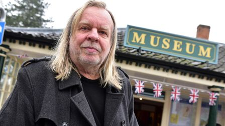 Rick Wakeman officially openingthe Diss Museum in 2016.