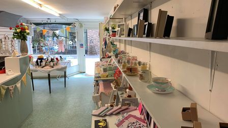 Some of the products on offer at Crafty Ones on Norwich Street in Fakenham.