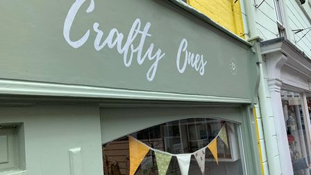 Crafty Ones on Norwich Street, selling Fakenham based arts and crafts.