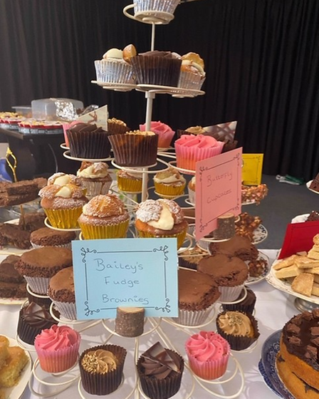 Cakes at a charity fundraising morning at the Toftwood Social Club