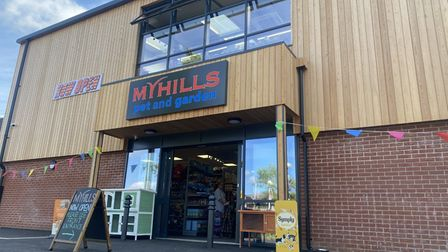 Myhills pet and garden opened its new store on Attleborough High Street.