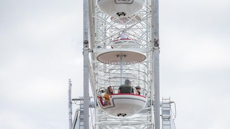 Visitors got to have a birds eye view of Clacton on the new observation wheel at the pier. Picture: