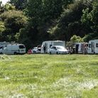 Travellers have set up in Langer Park, Felixstowe. Picture: Archant