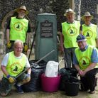 Ipswich Orwell Rotary Club cleaned up the grounds of St Clements Church in Fore street