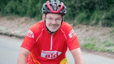 Julian Bryantis getting on his bike to cycle 200 miles through Norfolk in just 24 hours to raise money for Christian Aid