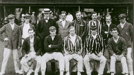 Talented all-rounder the Rev. George Barkley Raikes on duty with Norfolk in 1912