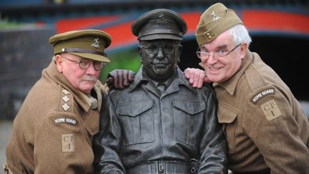 Dad's Army impersonators Neville Lockwood (Frazer) and Mick Whitman (Cpt Mainwaring) who have had ro