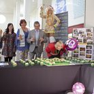Mayor Cllr Shirley Weymouth, right, blows out the candles to kick of celebrations for Market gates'