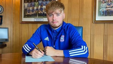 Callum Page has signed a professional deal with Ipswich Town. Photo: Instagram