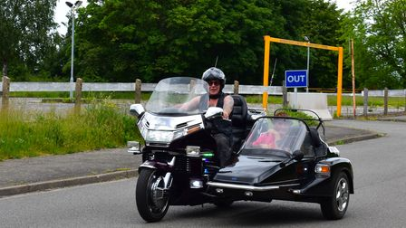 Paul Cook and Mark Poore are part of a group of motorcyclists taking part in thecharity ride