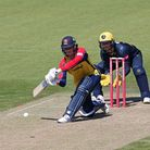 Will Buttleman in batting action for Essex against Glamorgan in the Vitality Blast T20
