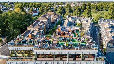 The roof terrace at SIX Cambridge