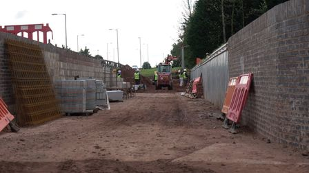 New channel under construction by Falkland Road