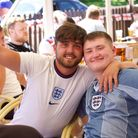 A capacity crowd of 230 cheered on the Three Lions at the Railway Tavern in Dereham.