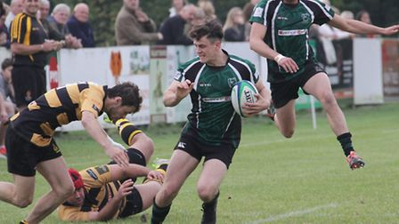 Freddie Henley-Hunter in North Walsham action at Tring. Picture: HYWEL JONES