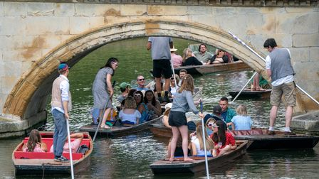 People enjoy punt tours along the River Cam in Cambridge. Picture date: Saturday June 12, 2021.
