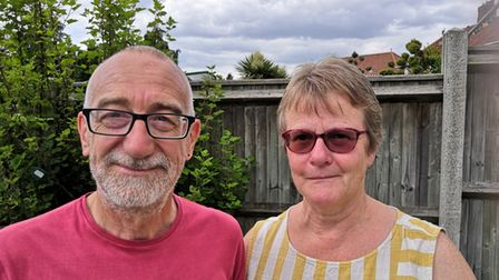 Norwich couple Stuart and Debbie Pegg are frustrated at the Covid rules which have forced Mr Pegg's mother into isolation