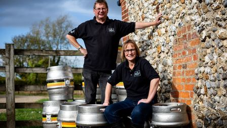 David and Rachel Holliday at The Norfolk Brewhouse. Picture: Norfolk Brewhouse