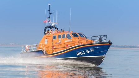 Walton and Frinton Lifeboat helped a yacht stranded off the Naze area at Walton