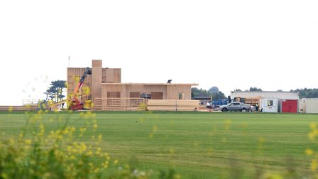 A set is being built ahead of the Amazon series filmed in Bawdsey