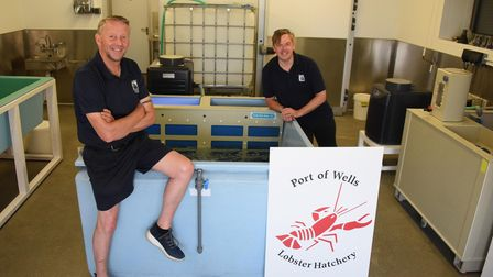 Robert Smith, left, Wells Harbourmaster and Simon Cooper, Wells Harbour administrator, at the new We