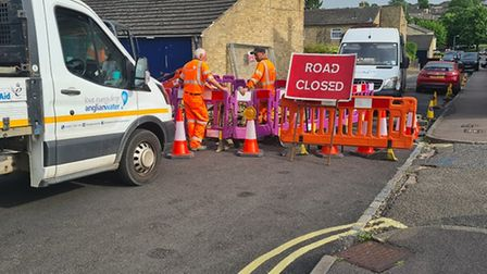 Anglia Water are now at the road to carry out repairs