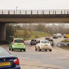 Traffic makes it's way around Thickthorn roundabout at the junction of the A11 and the A47. Picture: