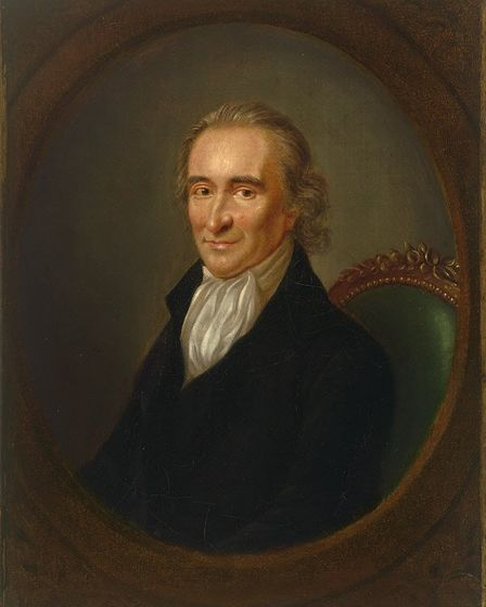 A portrait of Thomas Paine, from Thetford, who become a founding father of the United States. Image: