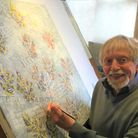 Ely artist, Ted Coney is opening various indoor spaces in his garden during the Ely Arts Festival