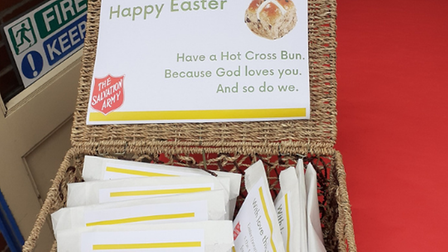 The charity raised money in different ways, including the sale of hot cross buns