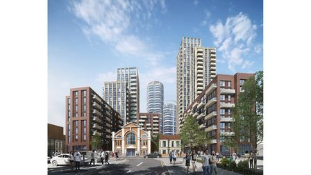 An artist's impression of the planned development