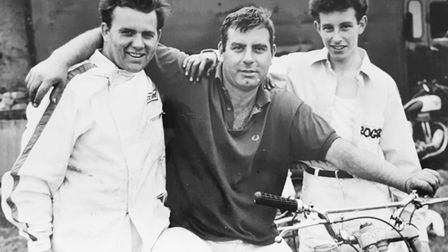 The Suffolk Cyclomaniacs stunt team from 1967