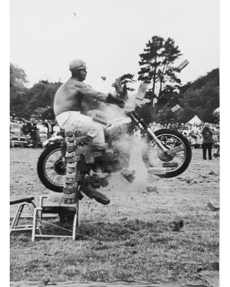 A stunt by Suffolk Cylomaniacs in 1967