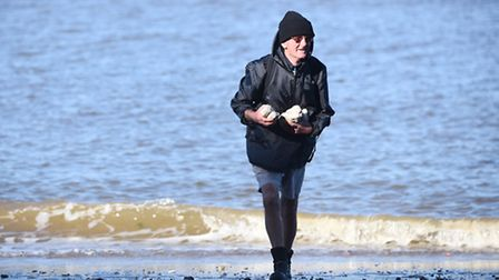 Michael Kennedy has been putting the rocks back at the base of Hunstanton cliffs for more than 20 ye