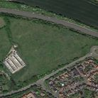 The site of the proposed homes off the A14 at Stowmarket