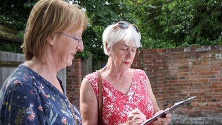 Lucy Myers petition about the closure of the day centre with Pat Powell