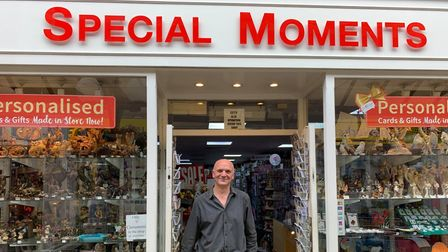 Owner of Special Moments, Nigel Maidstone outside his shop in Millers Walk.