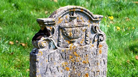 The headstone to Ann or Anne Branton (1747-99), who belonged to the colourful Haylett family