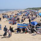 The busy Brancaster beach which causes traffic problems in the town. Picture: DENISE BRADLEY