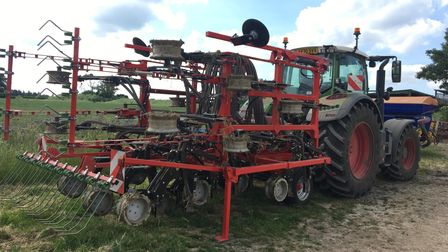 Machinery on display at the Diss Monitor Farm summer meeting at Rookery Farm