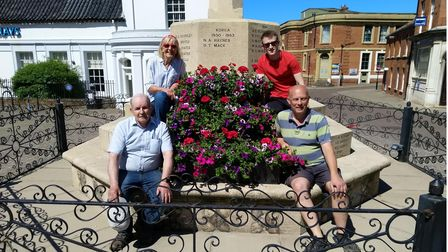 JanetHoldom, the project manager joined by Oliver Francis (BR) Gary Besant (FL) and Jamie Francis (FR)