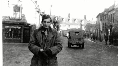 An American airman in Bungay around 1944.