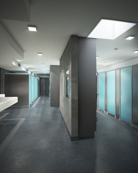What the new changing rooms at Clacton Leisure Centre will look like.