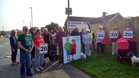 Residents have been arguing for the speed limit on Aylsham Road to be reduced to 20mph.