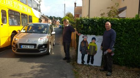 Members of North Walsham's Save Our Streets group campaign on Aylsham Road.