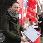 John Pierce campaigning to save Bethnal Green's One Stop Shop council services in 2013 soon after elected a councillor.