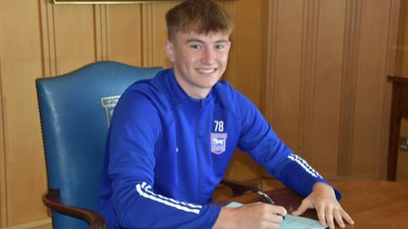 Albie Armin, 17, has signed his professional contract with Ipswich Town. Photo: ITFC