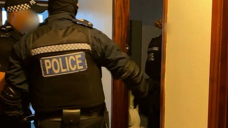 Officers on the dawn raid rushed into the room and confirmed it was unoccupied
