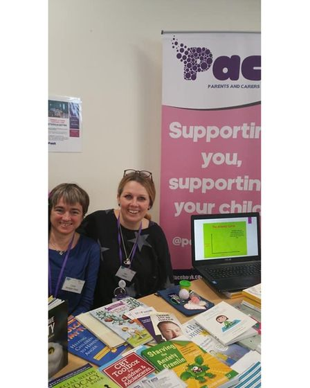 Bec Jasper, right, with Clare Morgan Hare, her co-director at PACT (Parents and Carers Together)